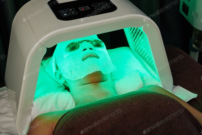 LED light beauty treatment
