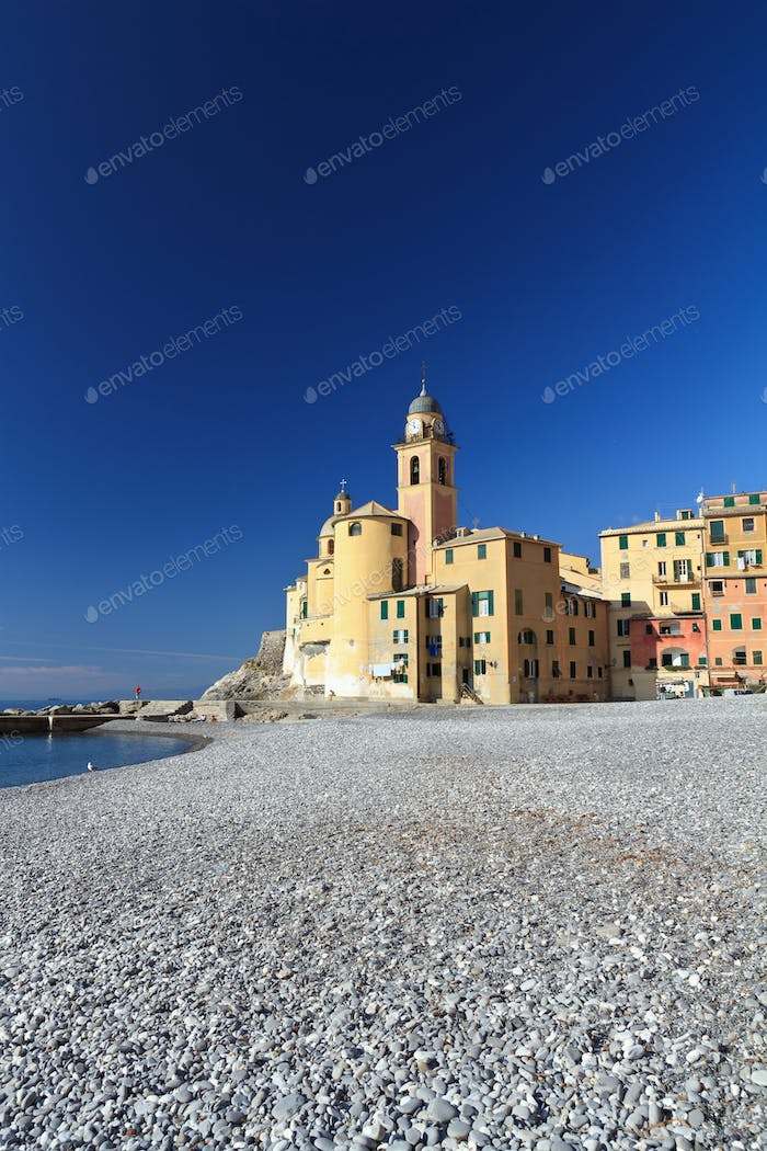 church and seaside in Camogli