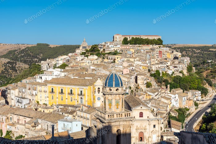 Beautiful Ragusa Ibla in Sicily