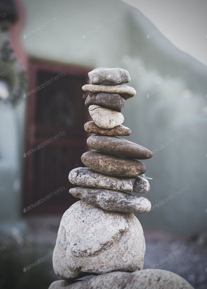 A stack of rocks
