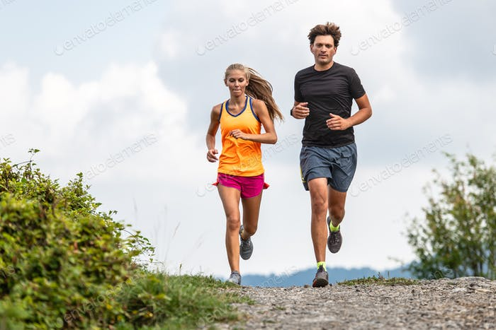 Couple of trail runners