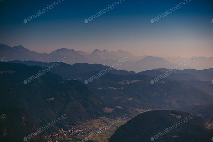 Beautiful Julian Alps landscape