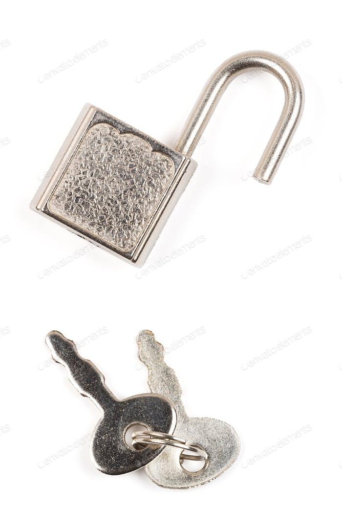 Vorhängeschloss mit Schlüsseln
