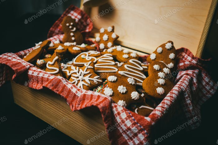 Traditional christmas gingerbread cookies
