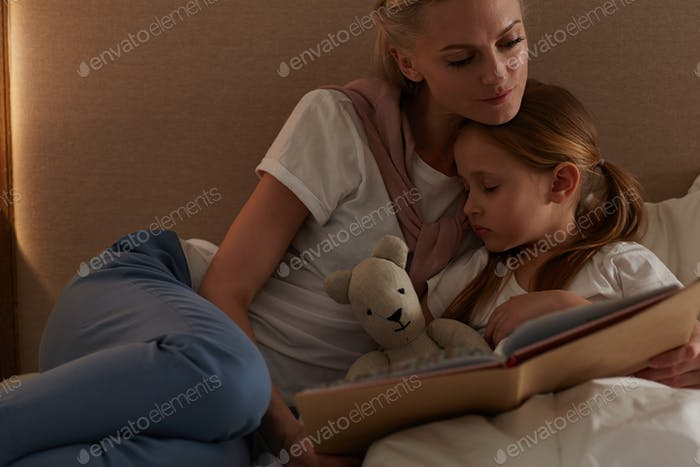 Reading to daughter