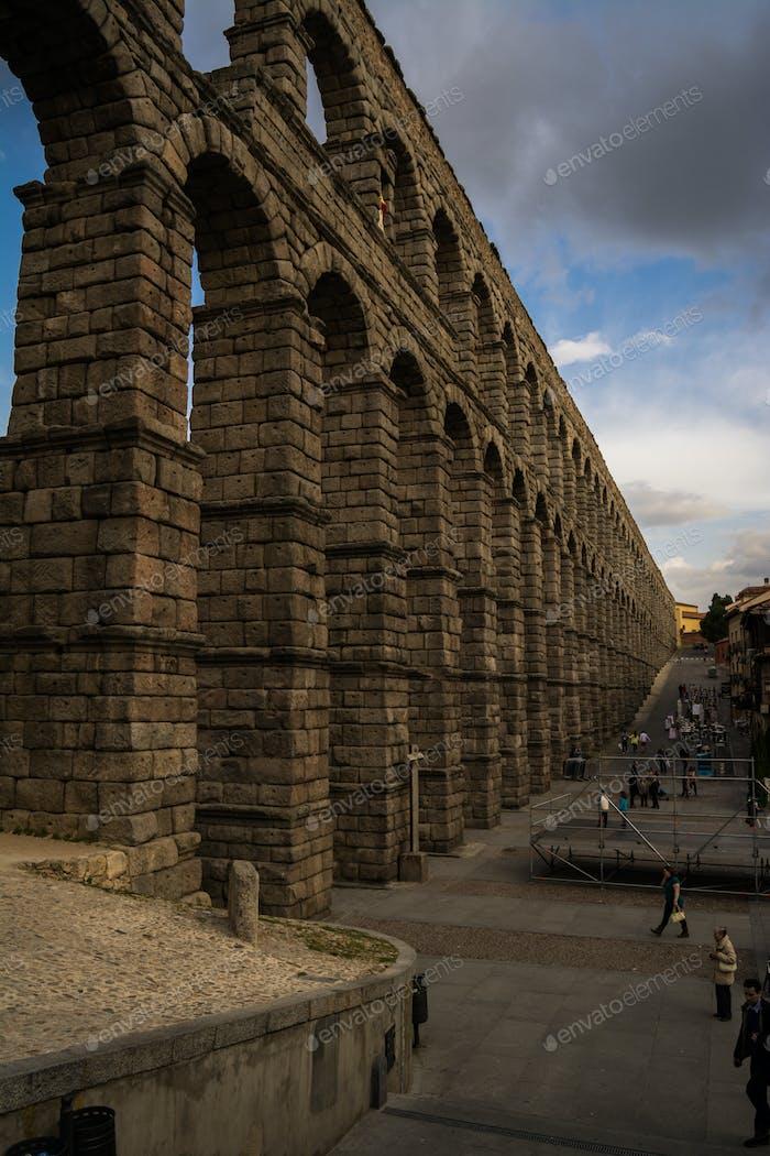 Ancient Aqueduct in Spain