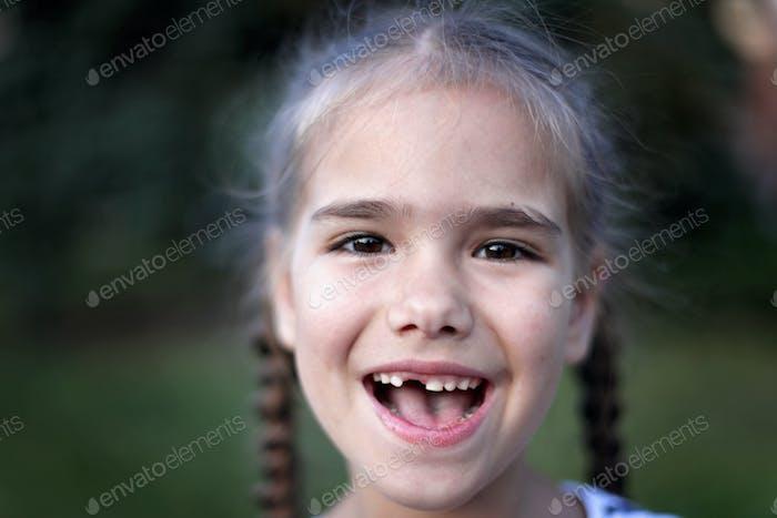 Close-up kid emotional portraits