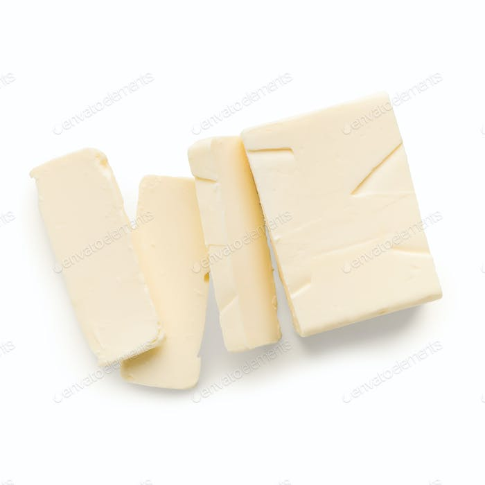 Piece of butter on white
