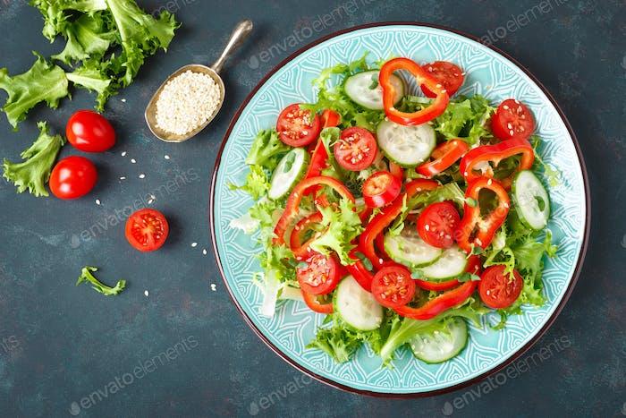 Healthy vegetarian vegetable salad