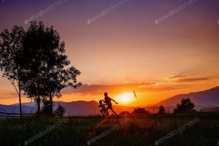 people on sunset