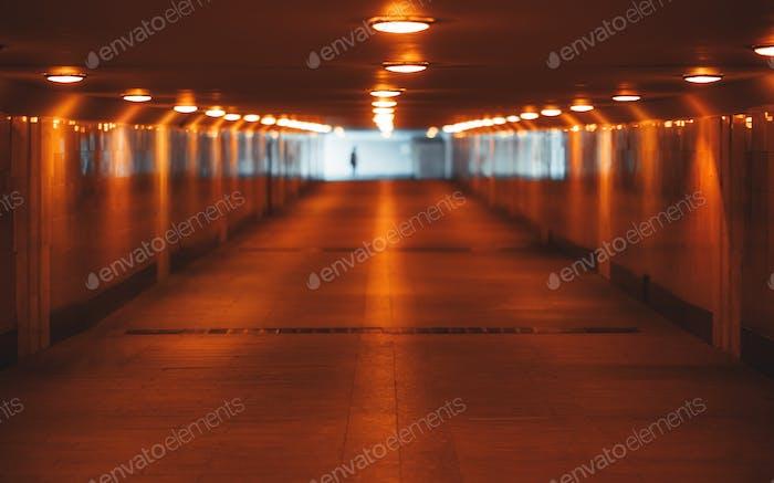 Illuminated underground passageway