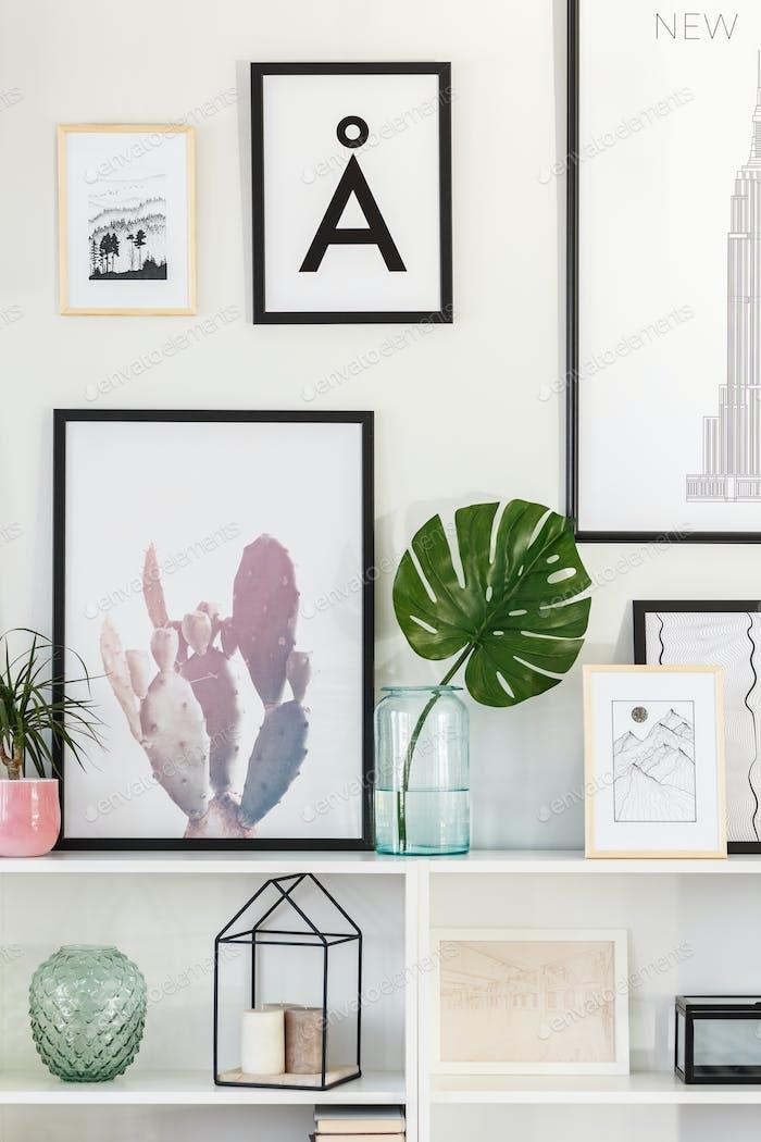 Green leaf in living room