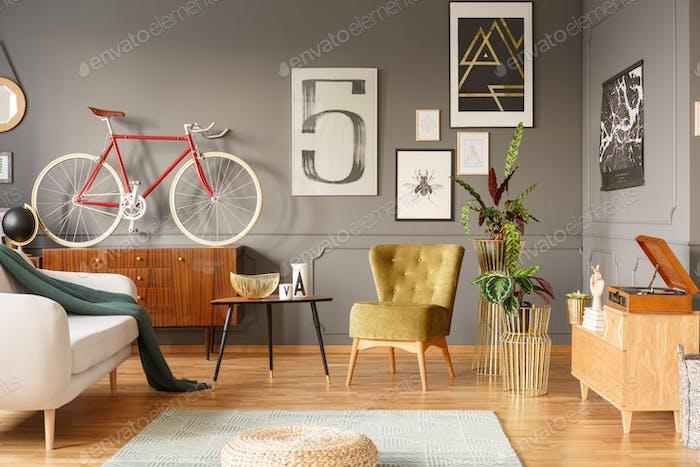 Homey feeling vintage living room