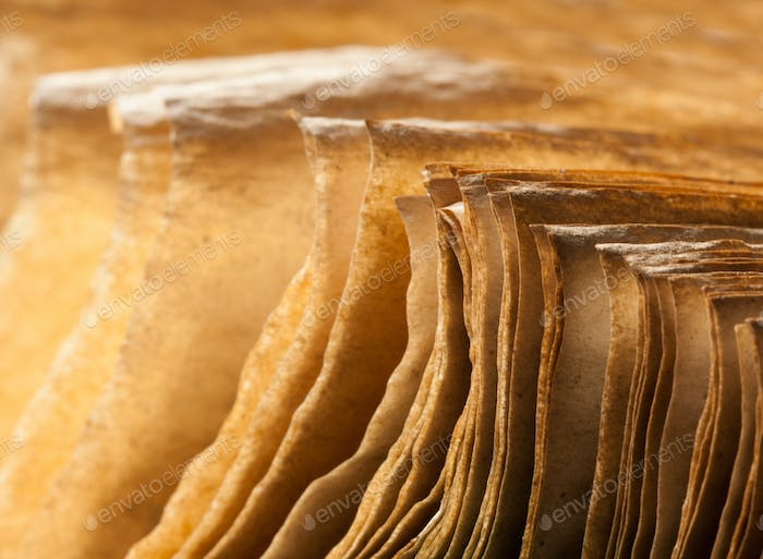 Pages of open ancient book