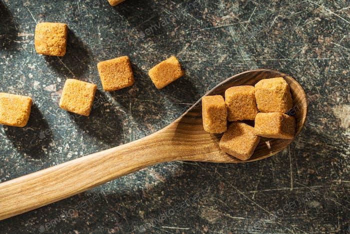 Brauner Zuckerwürfel