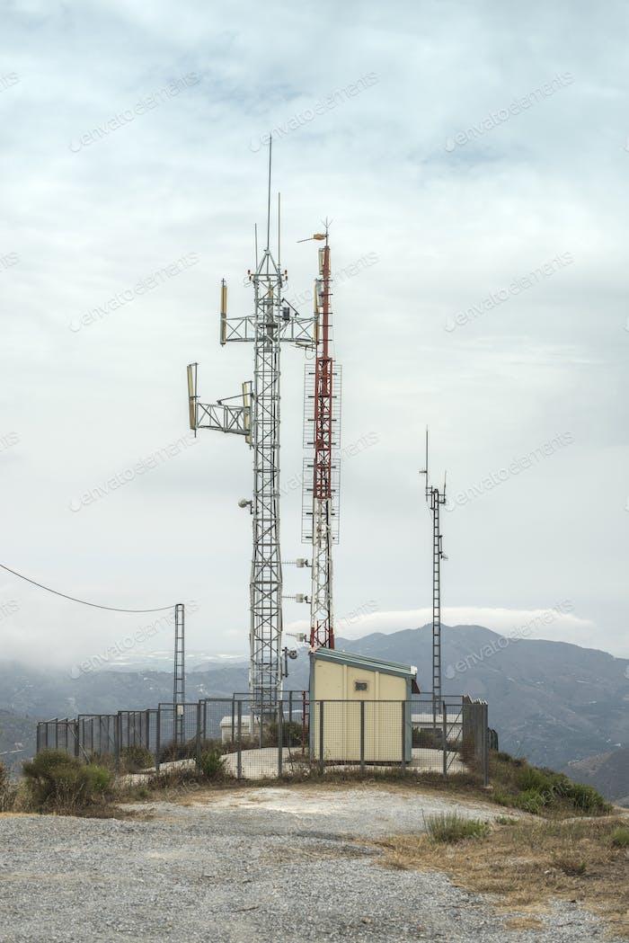 Telekommunikation (GSM) Türme mit TV-Antennen