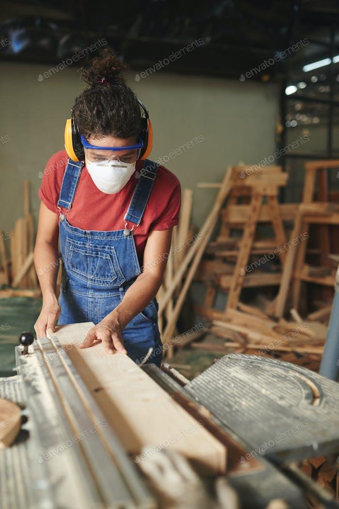 At carpentry workshop