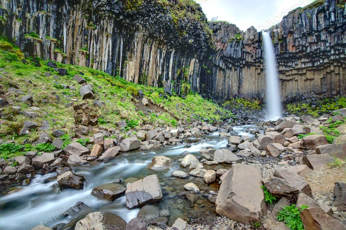 The Svartifoss in southern Iceland