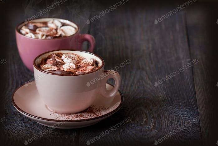Heiße Schokolade.