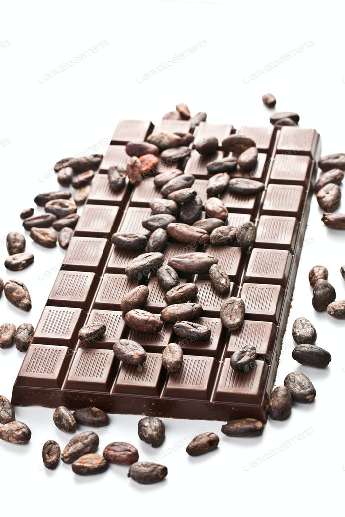 chocolate and cocoa beans
