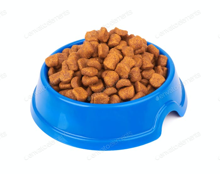 Pet food on white