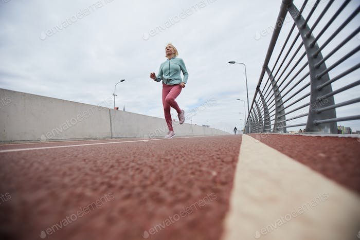 Runner on stadium