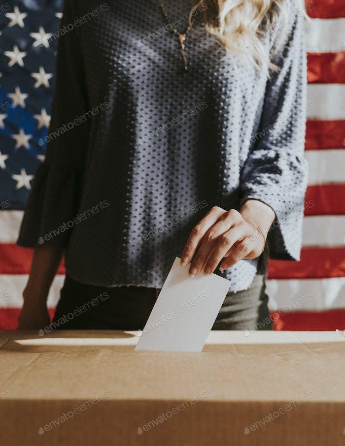 Encuesta de votación sobre democracia americana