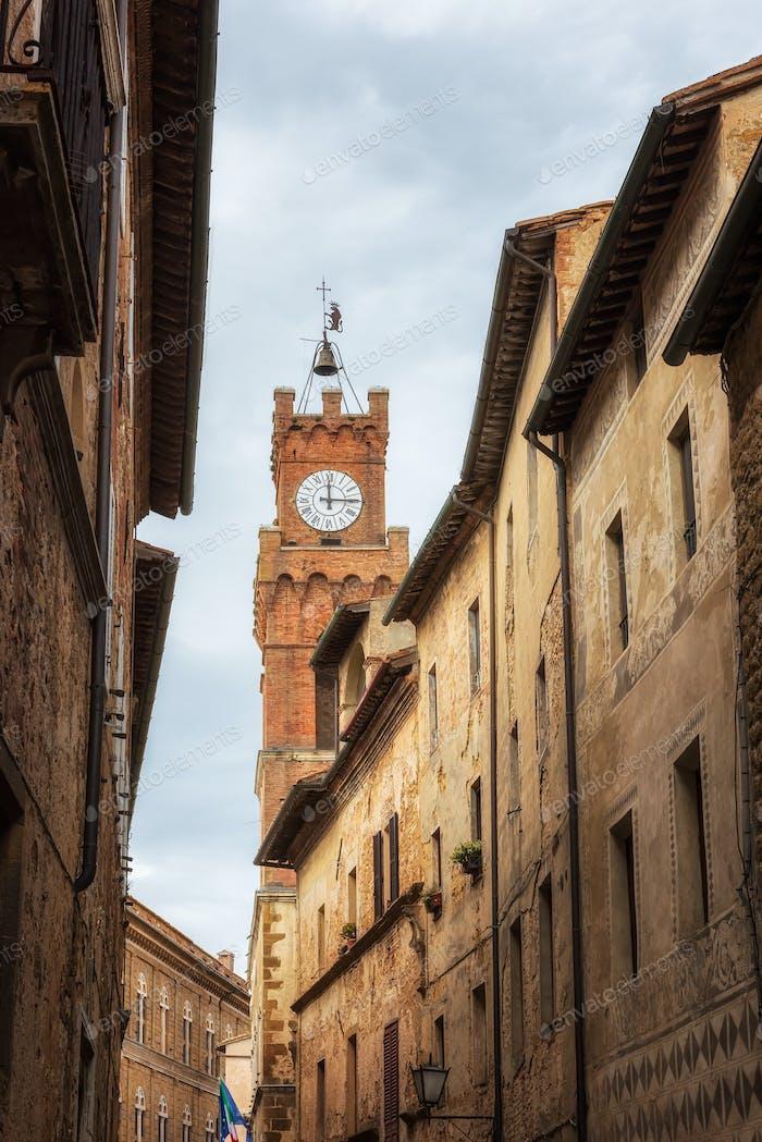 Die malerischen Straßen von Pienza