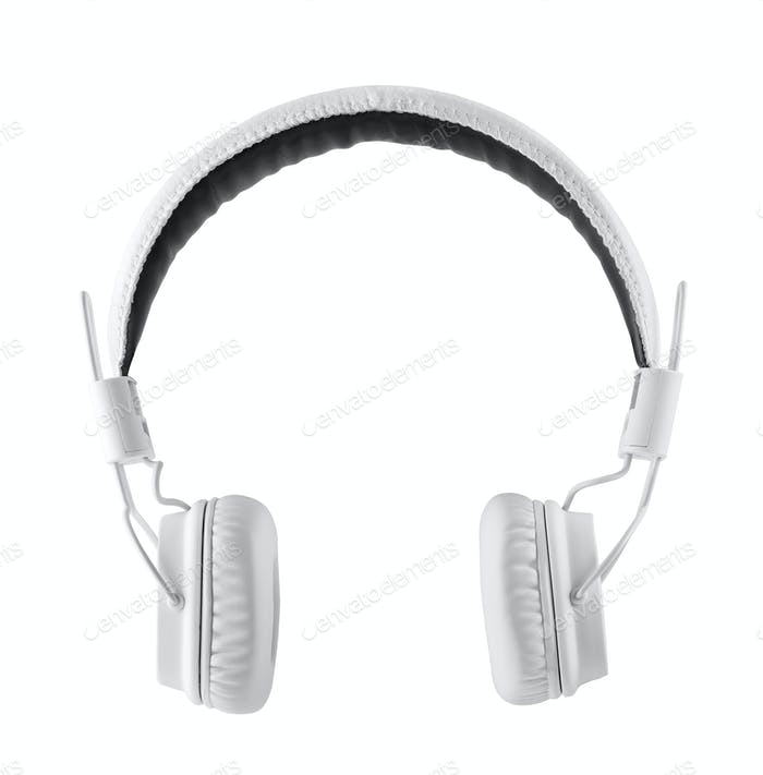 White leather headphone