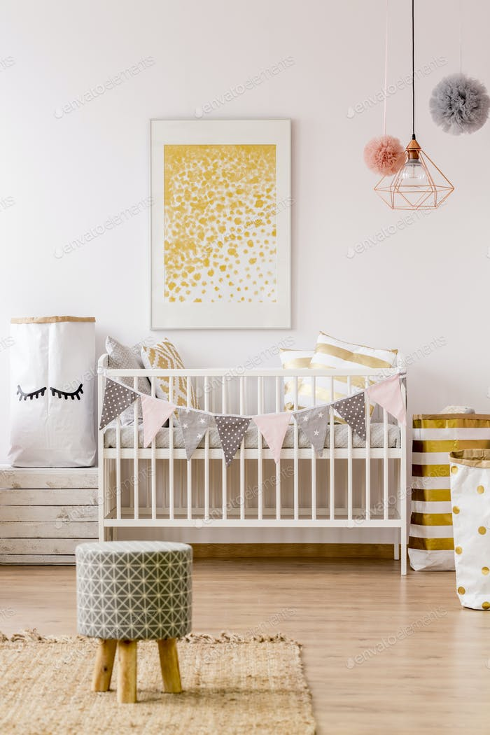 Newborn room in scandinavian style