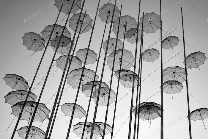 """The """"Umbrellas"""" Installation at the new waterfront of Thessaloni"""