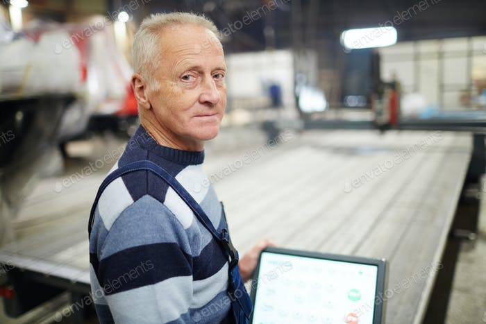 Working in shipyard