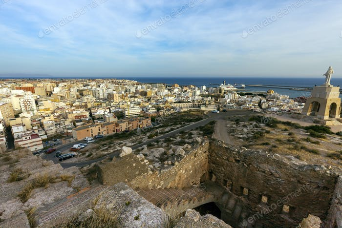Wall of Jayran and Almeria panorama