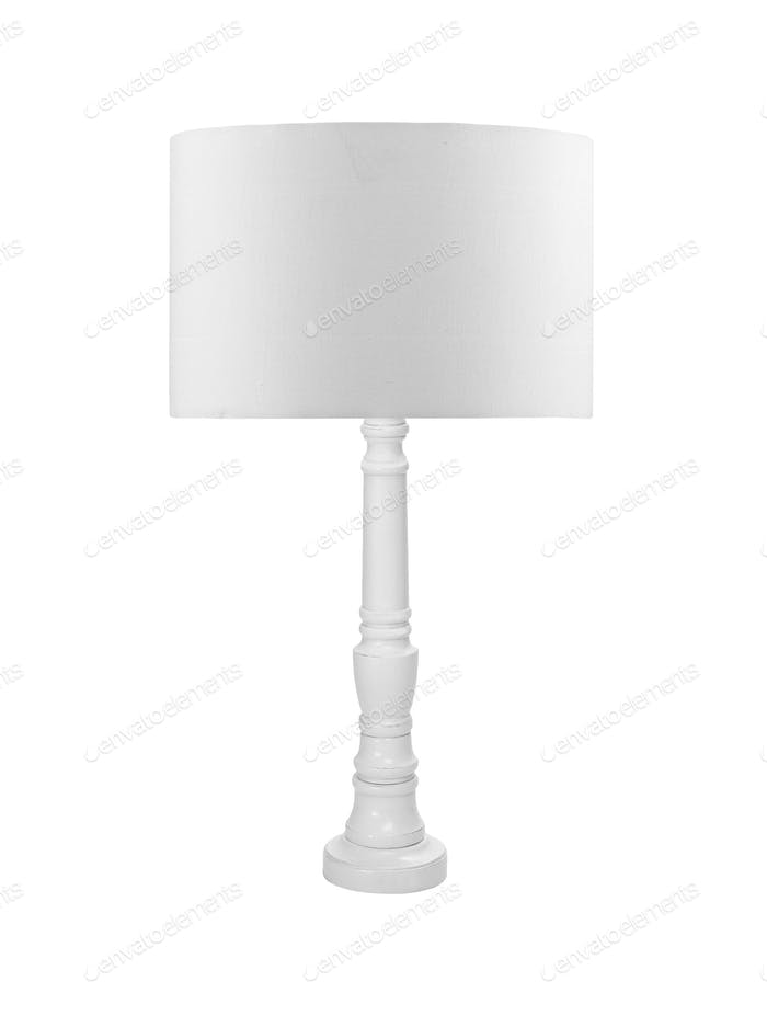 Small lamp, isolated on a white background