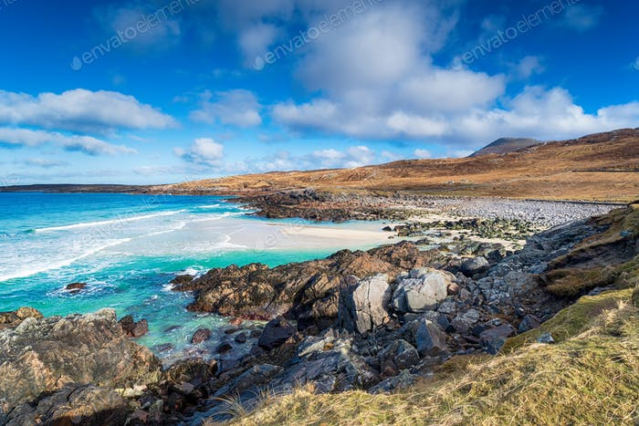 A remote beach at Mealista on the Isle of Lewis