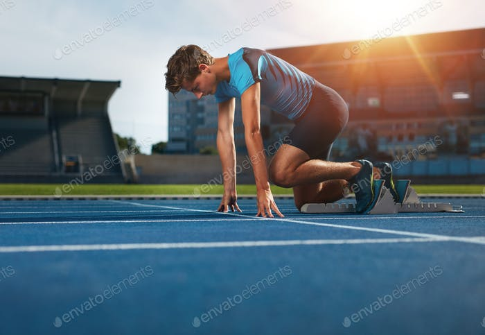 Runner ready for sports exercise