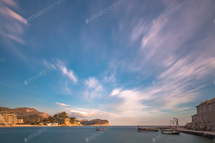 Marina and boat landing in Petrovac