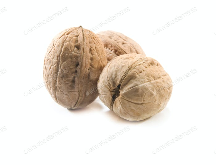 walnuts are isolated