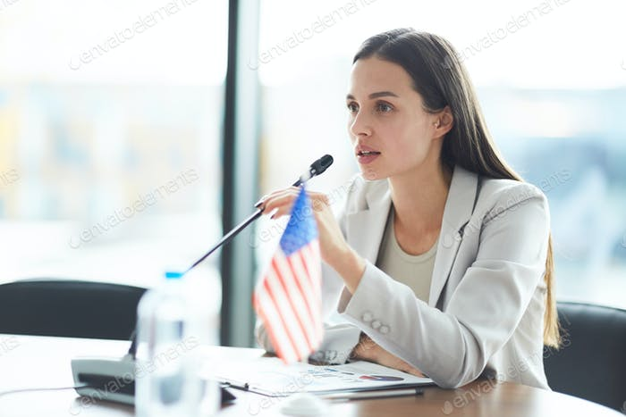 Female Business Speaker