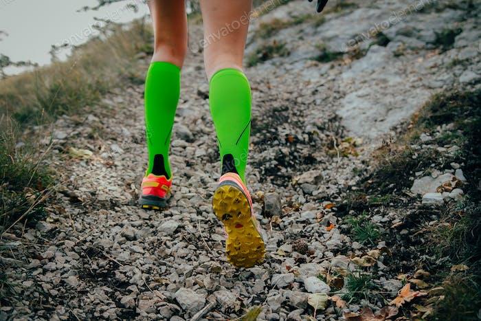 Feet running girl