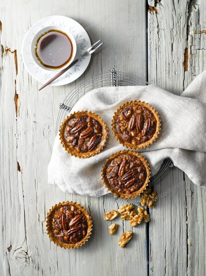 Walnut Pecan Pie Top View