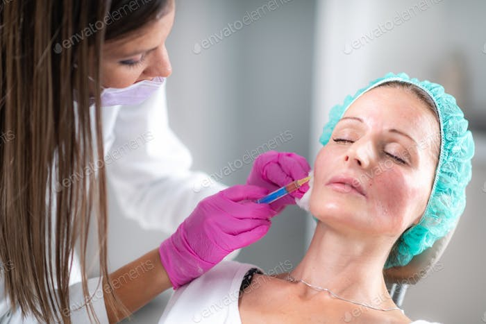 Hyaluronic Acid Fillers. Anti-Aging Treatment