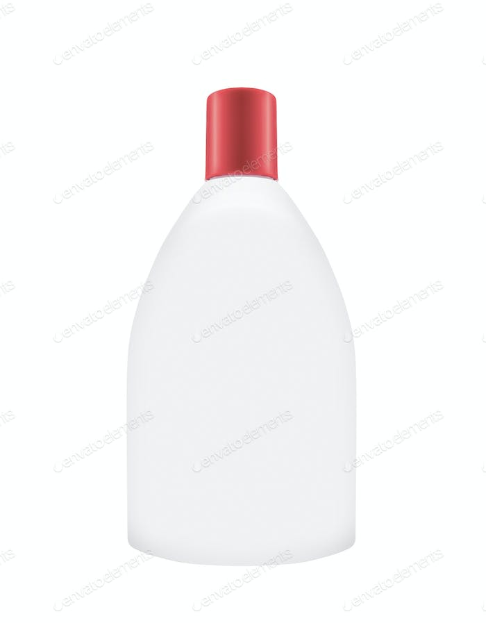Shampoo bottle on the white background