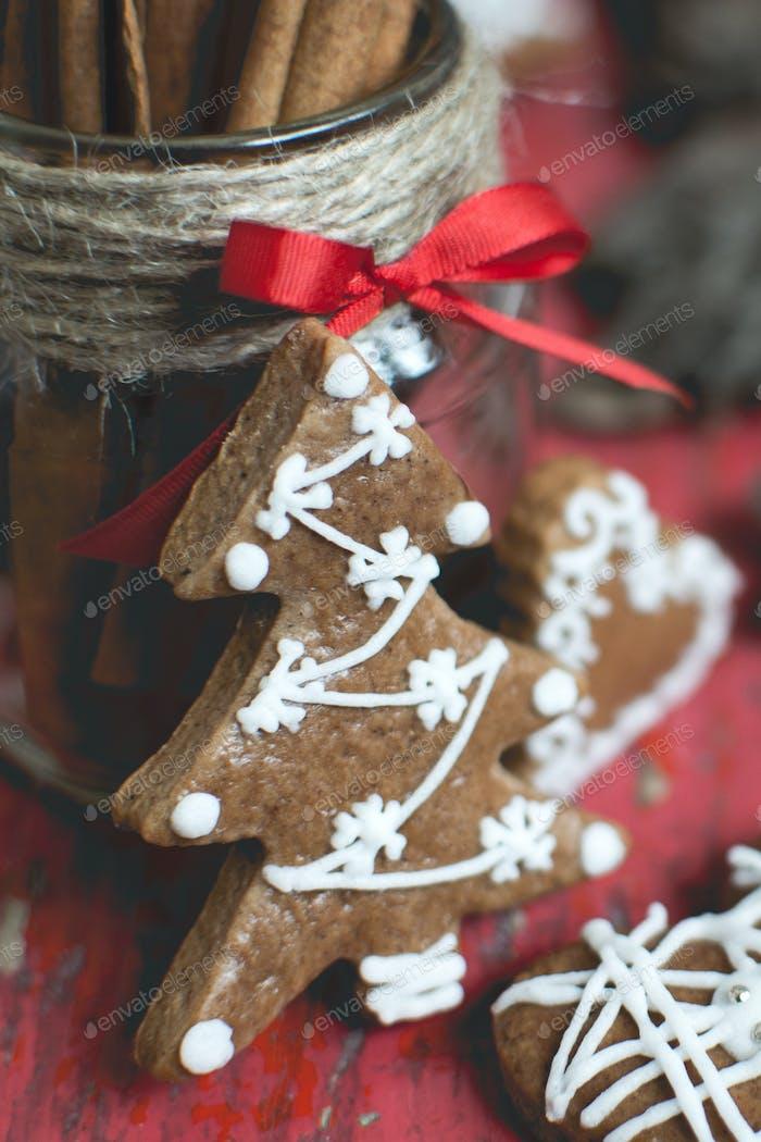 Christmas gingerbread tree