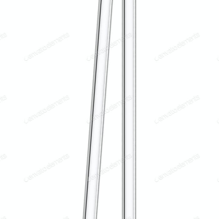 Metal pipes isolated on white background