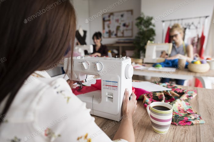Sewing women at the workshop