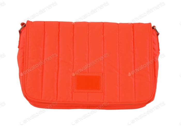 Orange padded textile purse