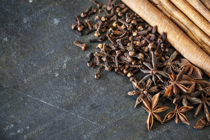 Closeup of star anise