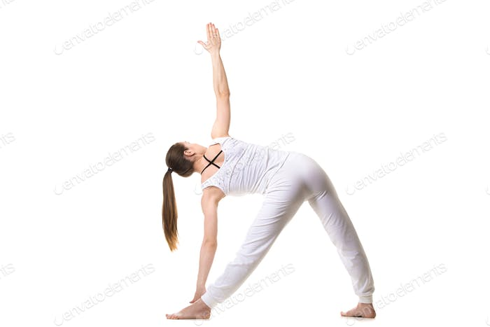 Yoga Triangle pose