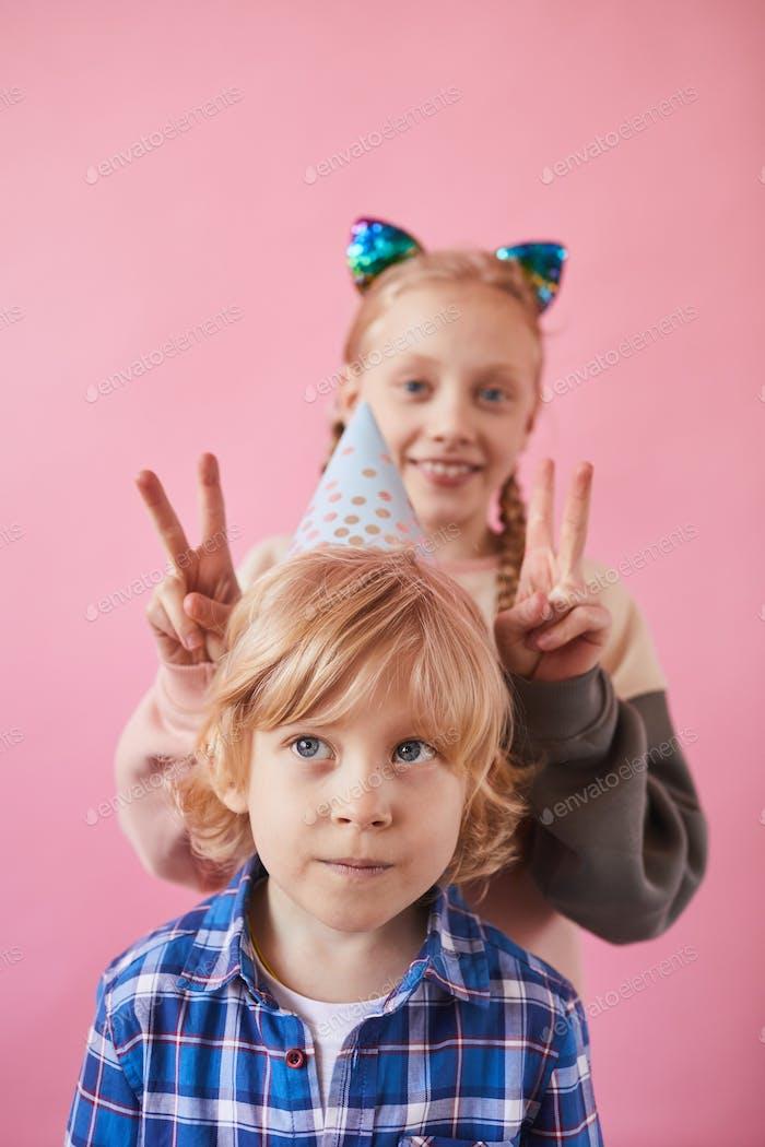 Portrait of funny children